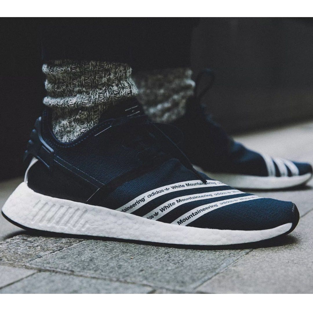 best website 5eee0 e7c16 Adidas x White Mountaineering NMD R2, Men s Fashion, Footwear, Sneakers on  Carousell