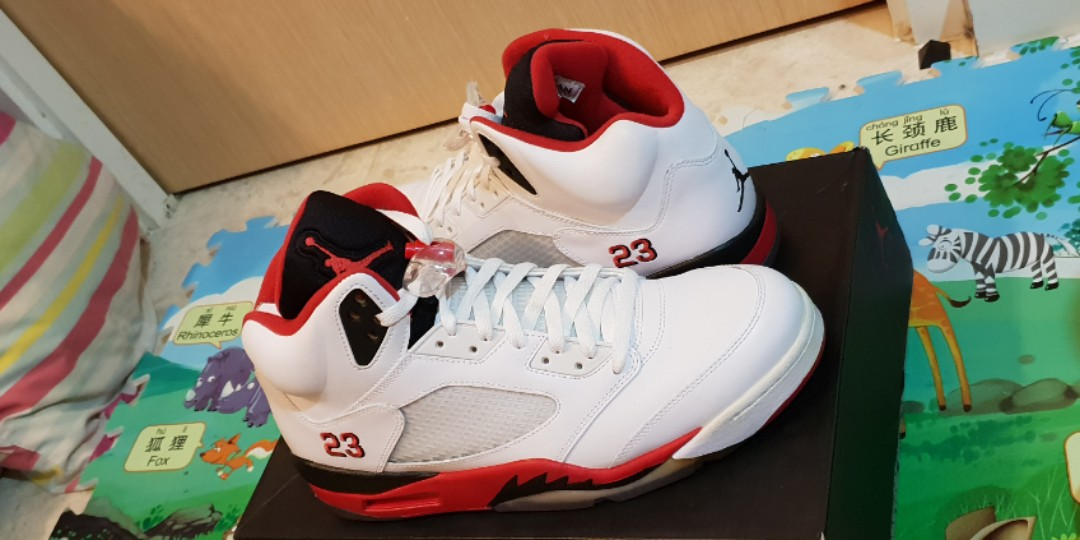 2742bb8e55f Air Jordan 5 Fire Red Black Tongue, Men's Fashion, Footwear ...