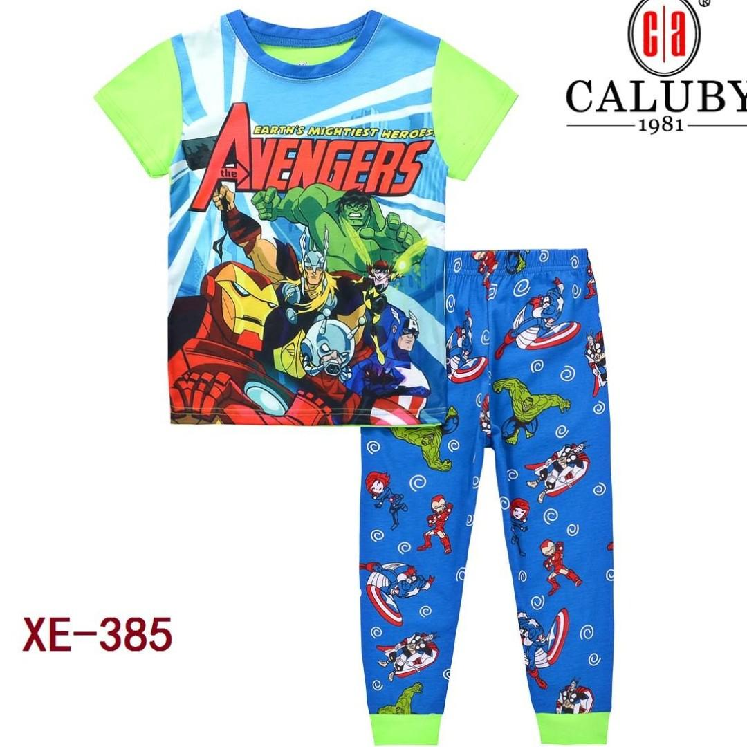 Avengers Green Short Sleeve Pyjamas for 2 to 7 yrs old