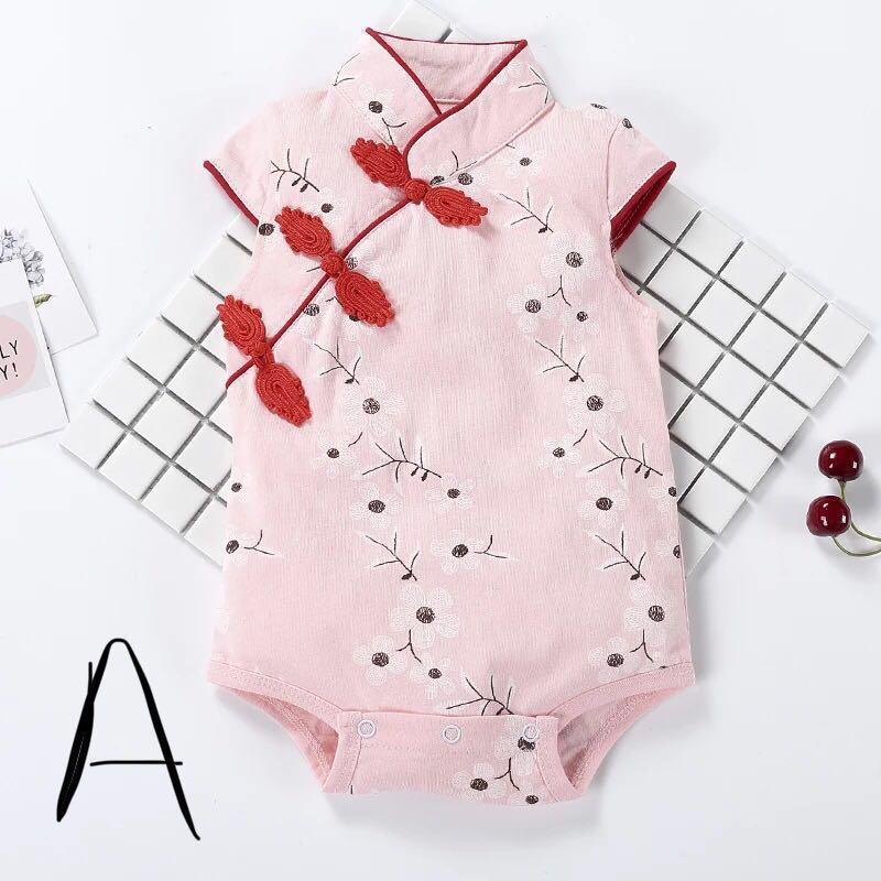 d683ee028 Baby Cheongsam Romper CNY, Babies & Kids, Babies Apparel on Carousell