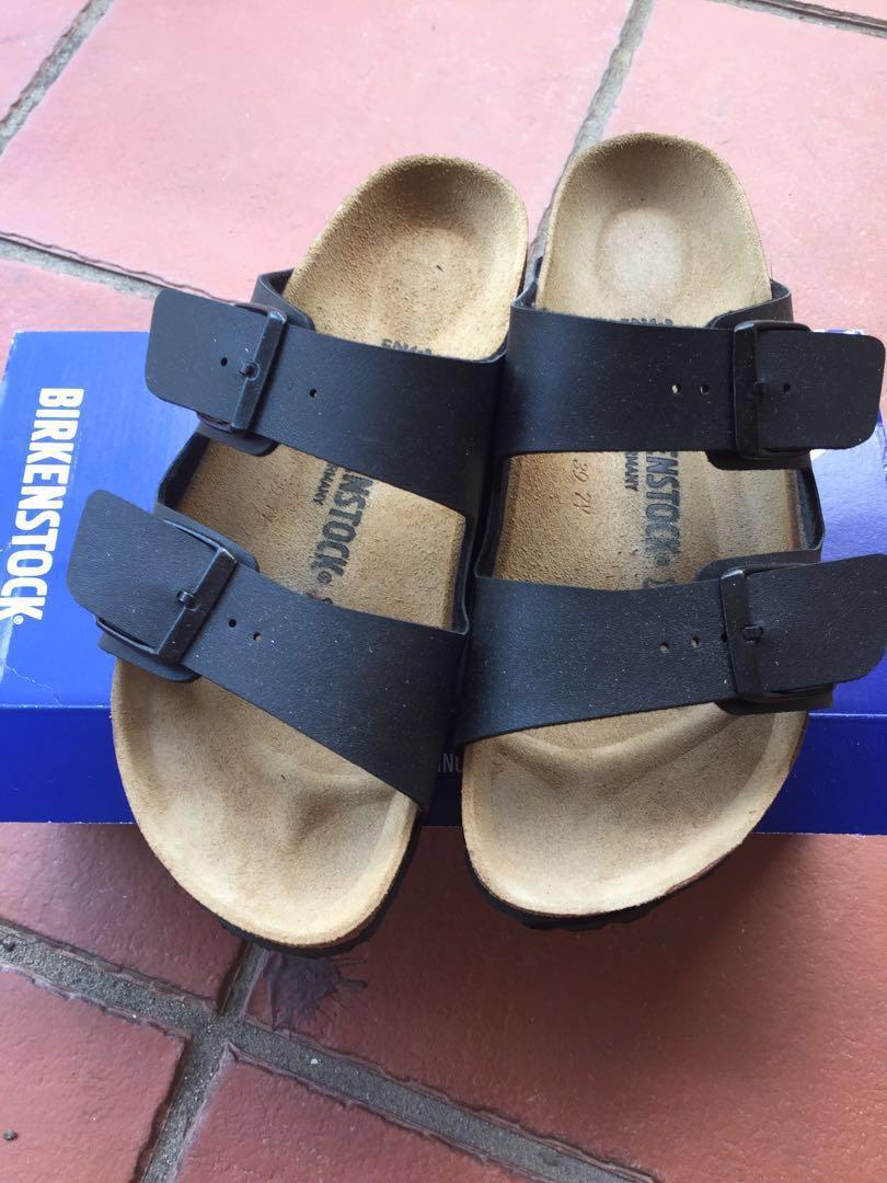 959a5ee2589b Birkenstock Arizona Birko -Flor Soft Leather Sandals dark brown ...