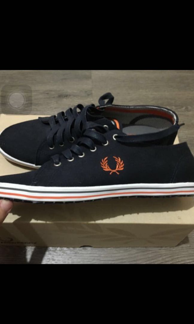 Brand New Fred Perry Kingston Twill Tipped In Navy Shoe 559e66ad79c
