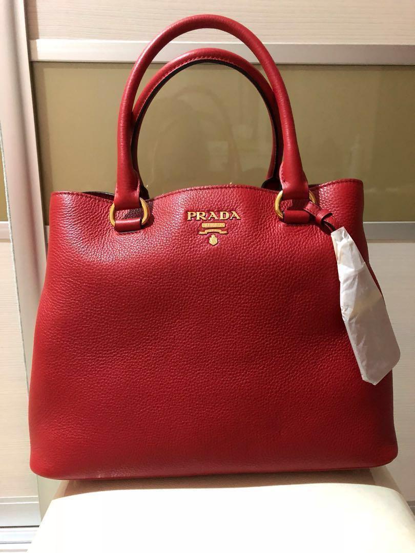 3f0cb6fdee72 Brand new Prada Vitello Phenix Leather Convertible Bag