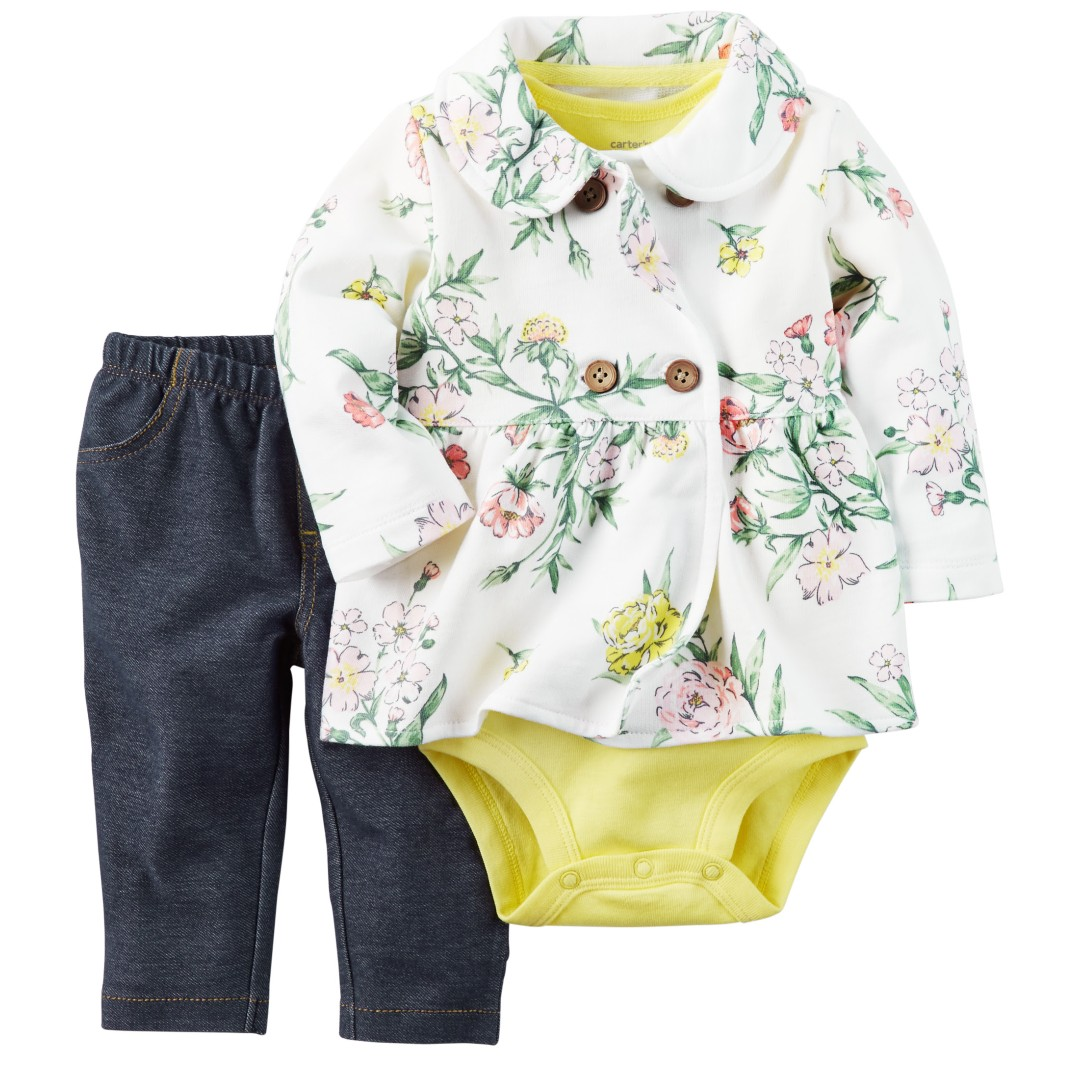 60833f947 Brand new with tag Carter's 3 pc Baby Girl Jacket Set, Babies & Kids ...