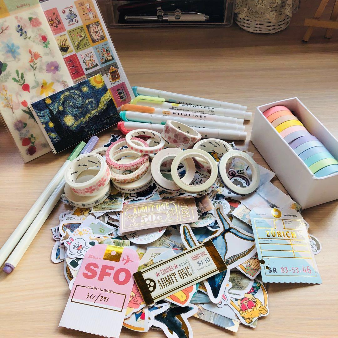bujo / washi tapes / stickers grabbag