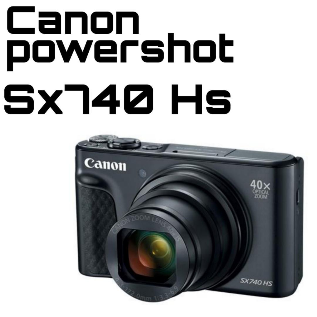 Canon Powershot Sx740 Hs Digital Camera Black Photography Cameras Digital Cameras On Carousell