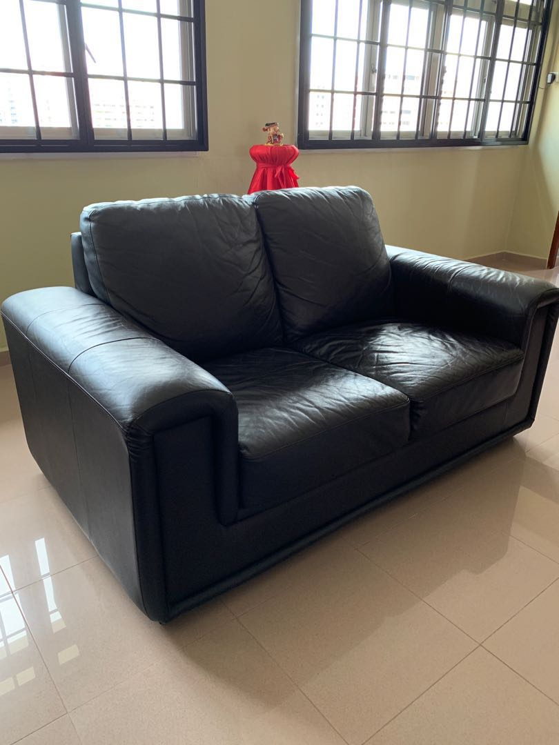Outstanding Clearance 2 Seater Leather Sofa Brown Beutiful Home Inspiration Xortanetmahrainfo