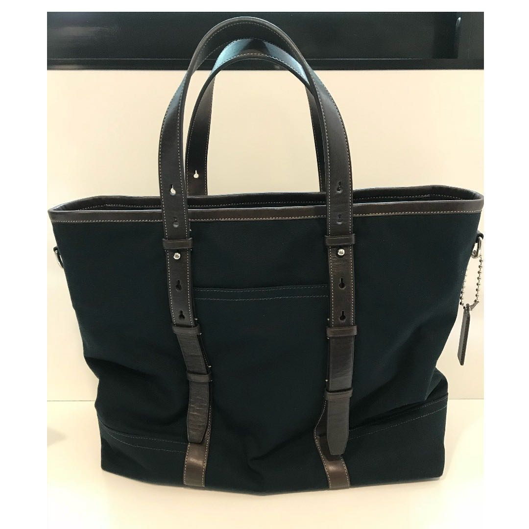 60a760f6d9 Coach Tote Bag Mint Condition! Dark Blue!, Men's Fashion, Bags ...