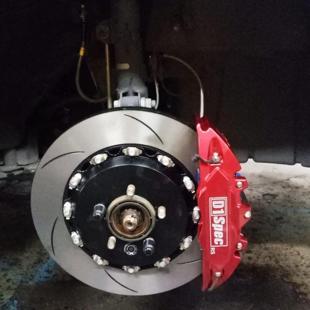 D1 SPEC BIG BRAKE KIT 4 POT CALIPER   (TOYOTA WISH 1.8 ZGE20 )