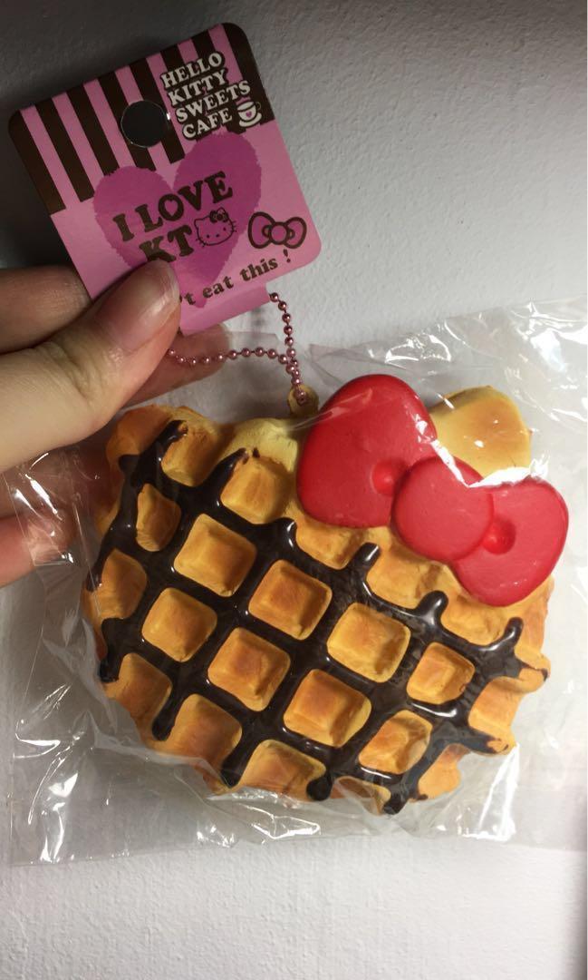 DISCONTINUED Hello Kitty chocolate waffle squishy