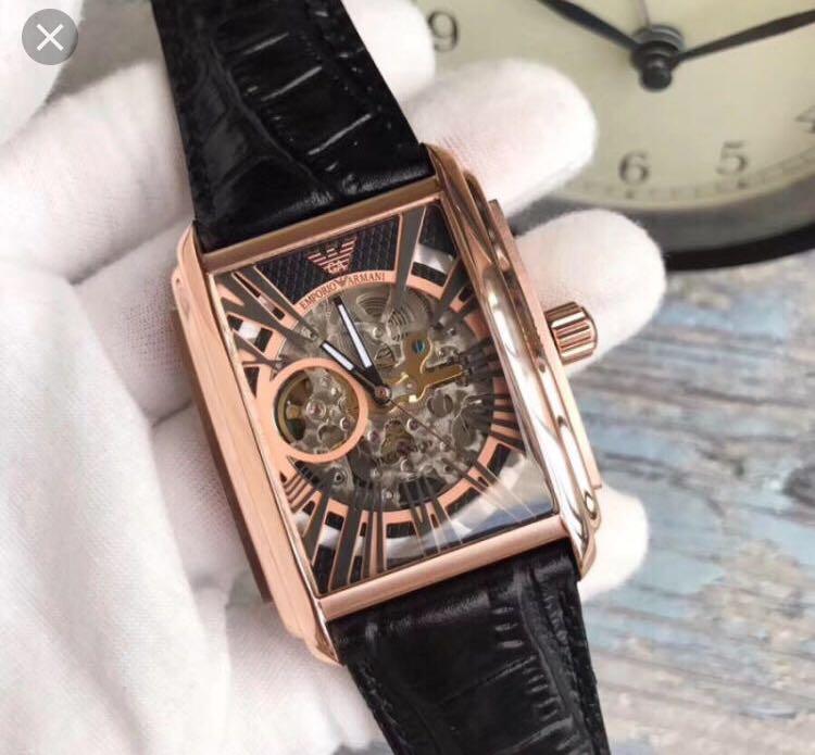 7d86efde2147b Emporio Armani Automatic Meccanico Skeleton Watch AR4233, Men's ...