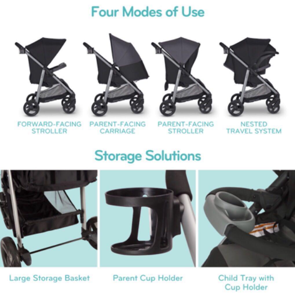 Evenflo Flipside Stroller Litemax Infant Carseat Travel System