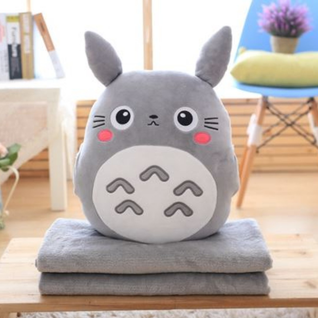 d4c3e2d1fd14 FREE DELIVERY  Cute Anime Totoro Plush Toy Cushion Pillow Hand ...