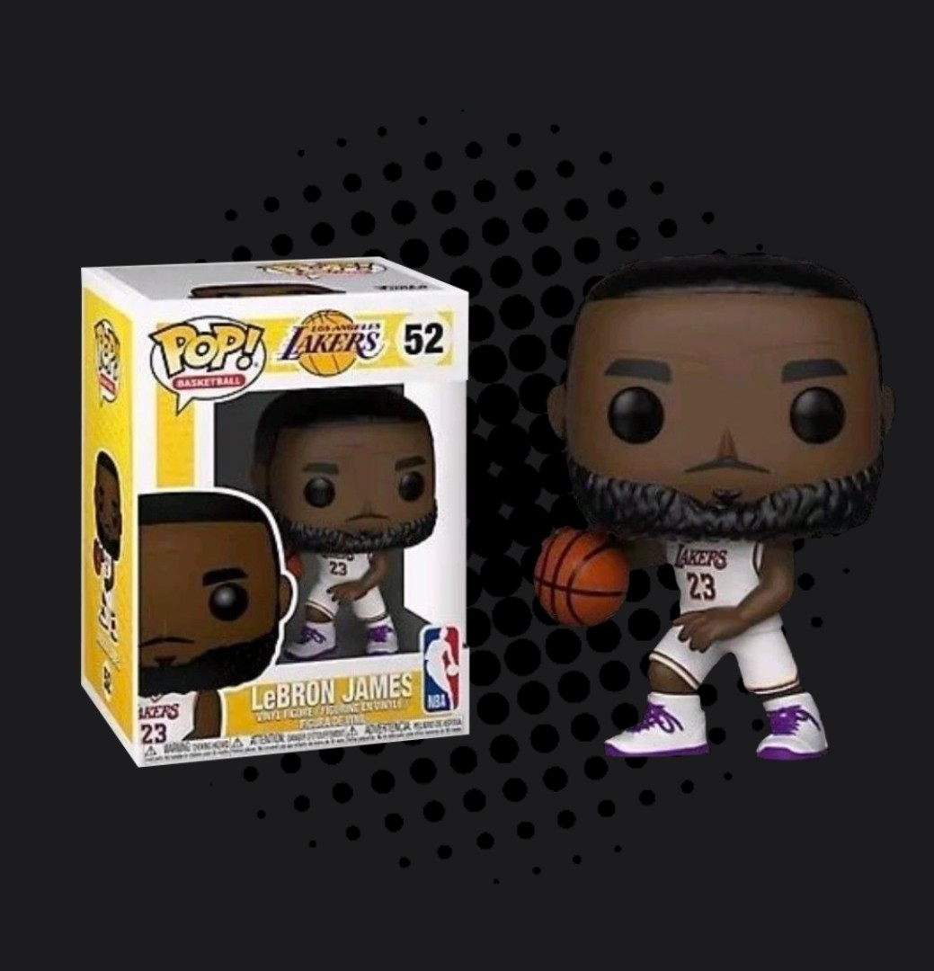 FUNKO POP - NBA BASKETBALL - LEBRON JAMES L.A. LAKERS WHITE UNIFORM ... 5f448e08a