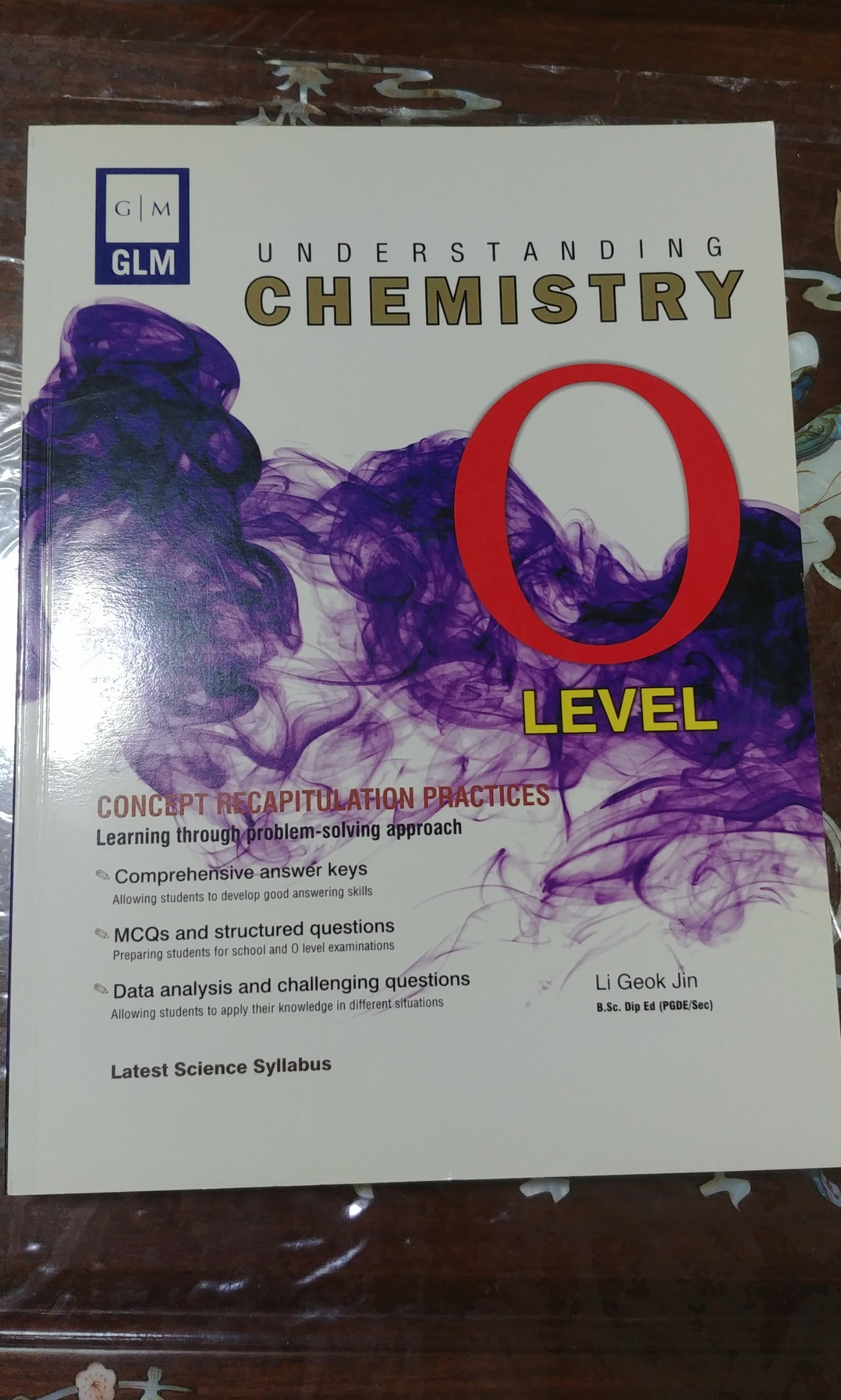 GLM understanding chemistry O level assessment book