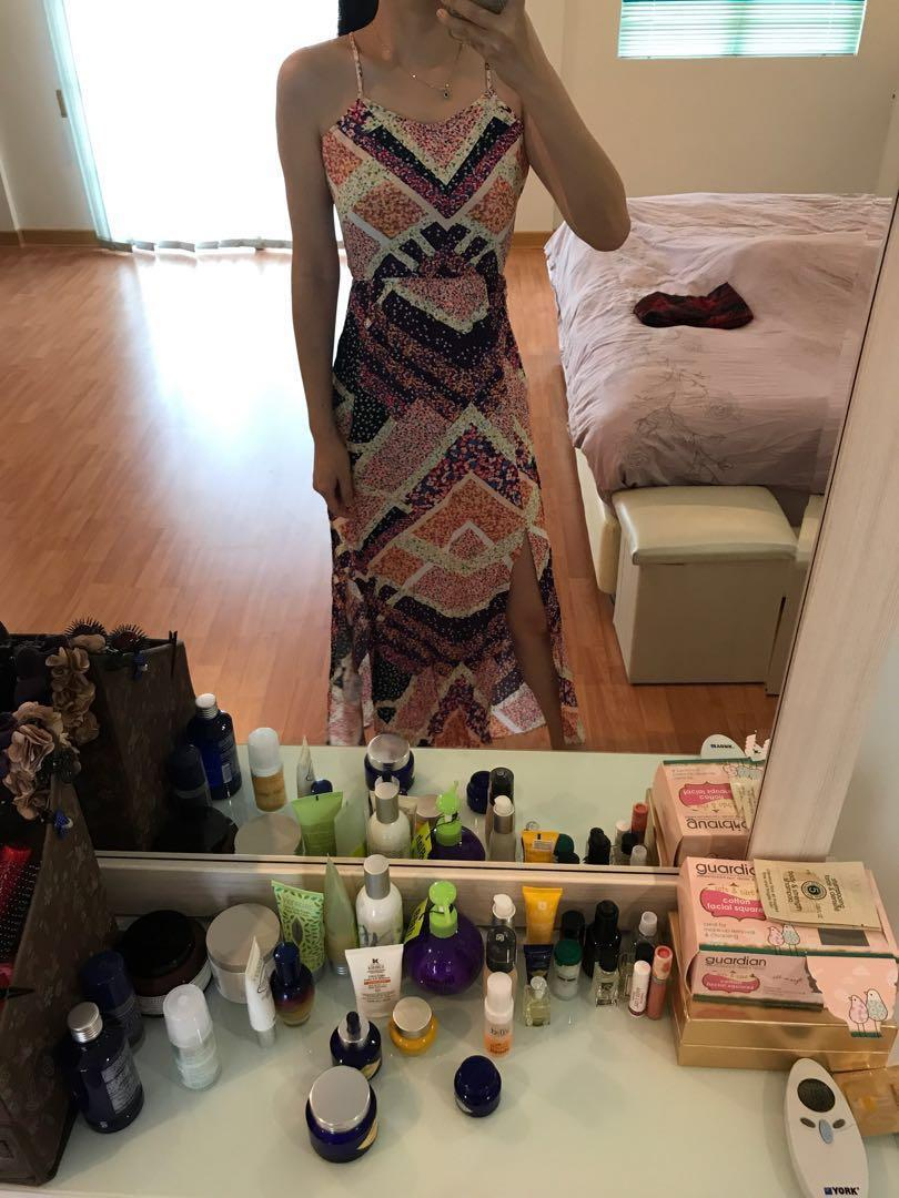 H&M flowers long dress