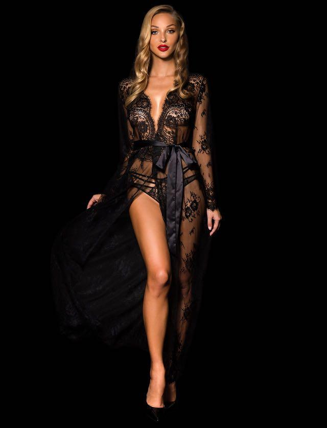 Honey Birdette Love Lace Robe