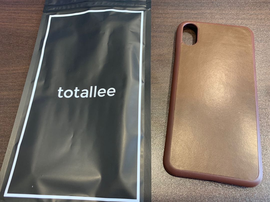 check out bc4ce 9245a iPhone X thin leather mocha case - totallee