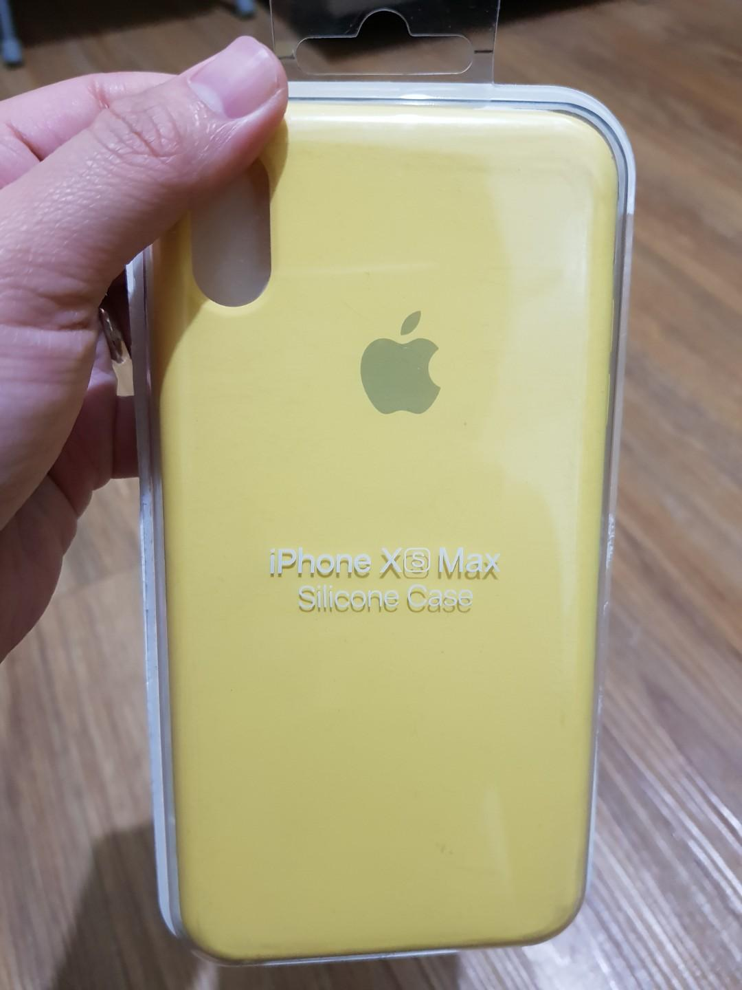 new arrival 78ee6 033cb Iphone XS Max Silicone Case - Mellow Yellow on Carousell