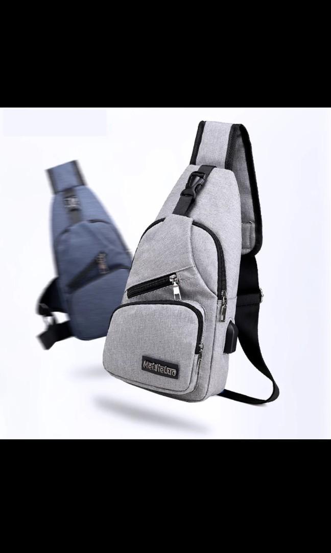 094eda7ddf03 Male Shoulder Bags USB Charging Crossbody Bags Men Anti Theft Chest ...