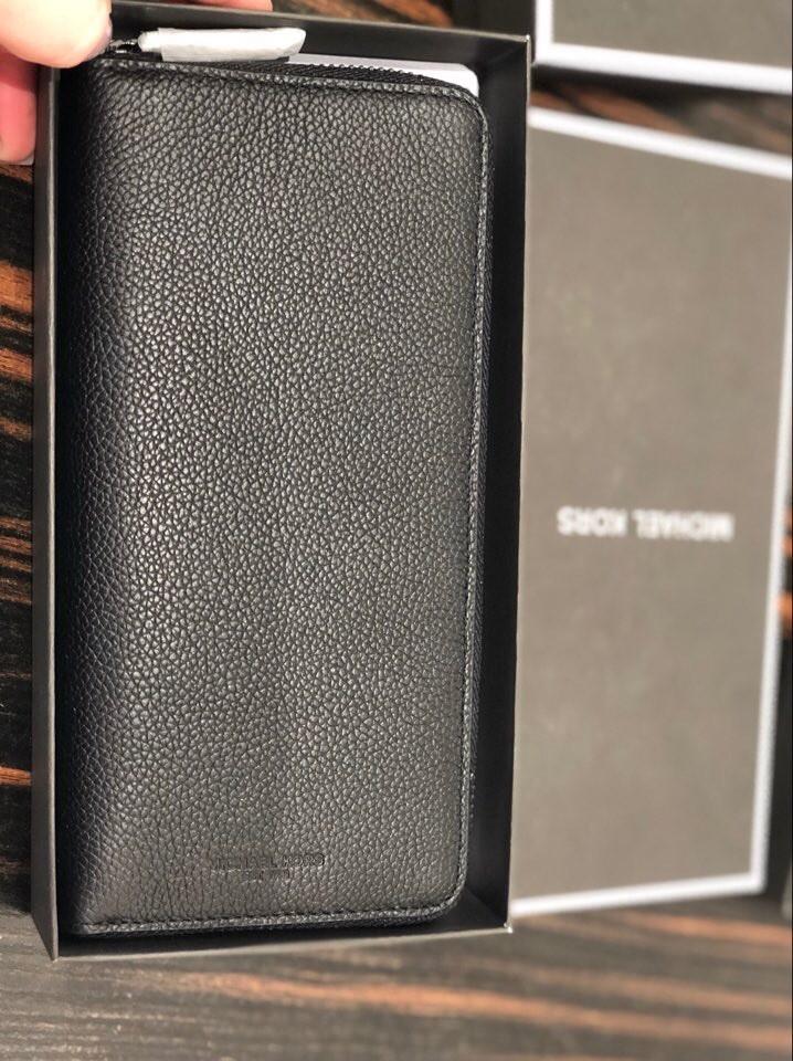 b5776a56c23c Michael Kors Russell Men Tech Zip Around Long Wallet, Luxury, Bags ...