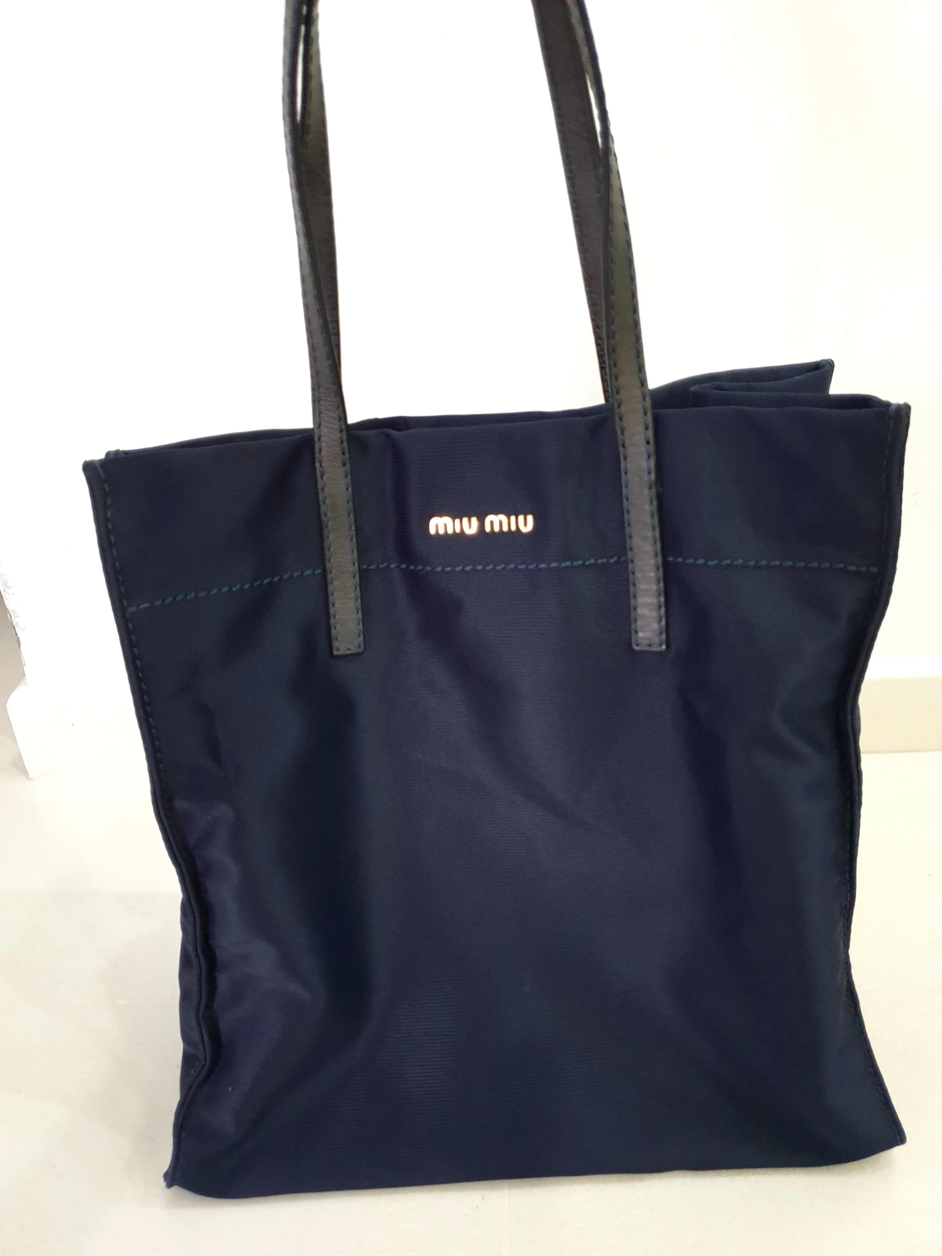 abc6e4efe5d6 Miu Miu Travel Tote Bag - Navy