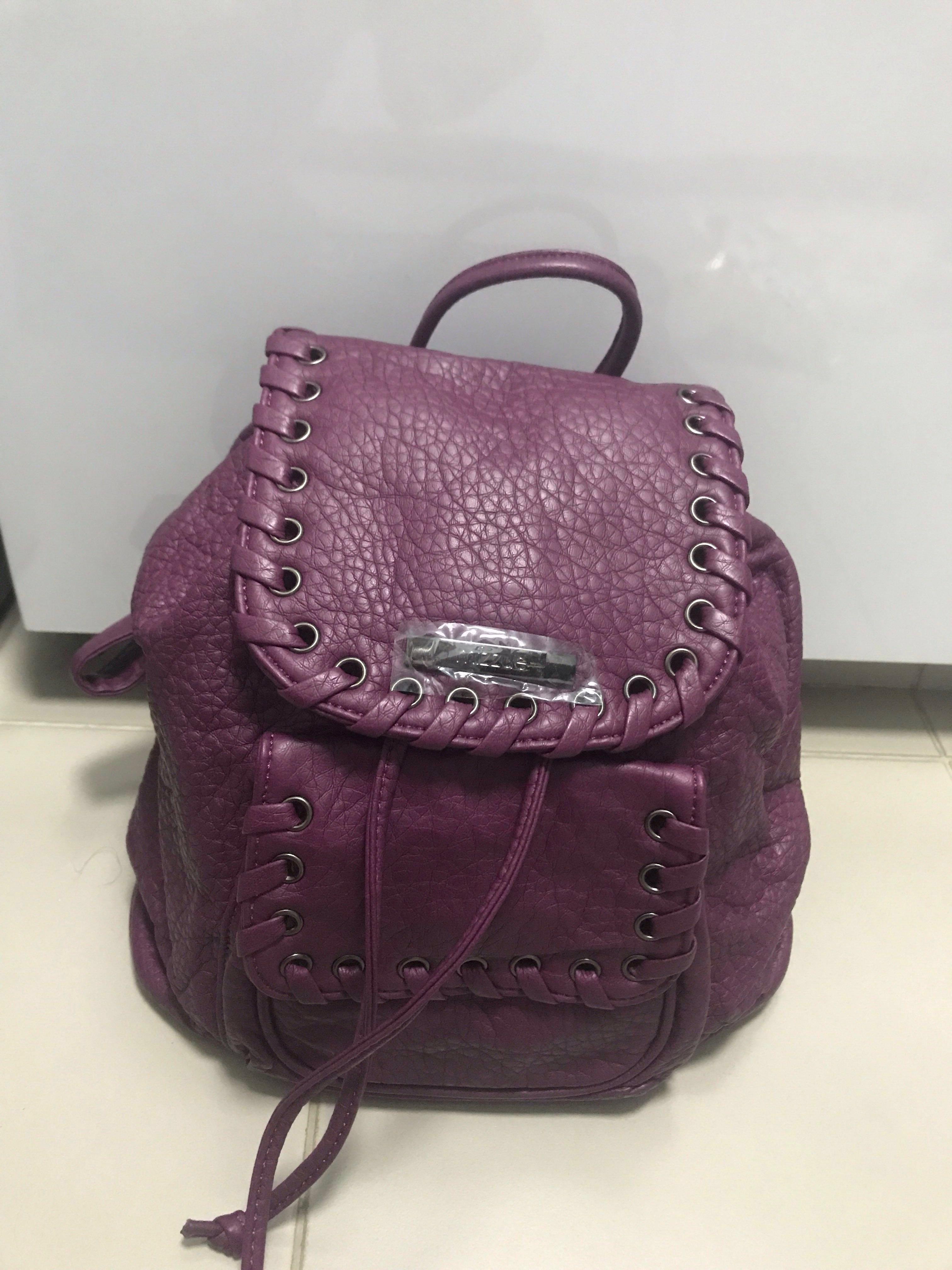 5d20e37761bd mizzue purple mini backpack