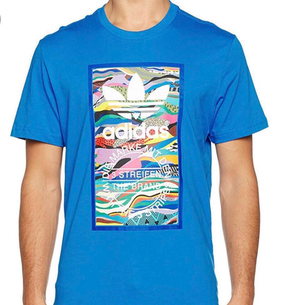 New With Tag Adidas Originals Colour Pattern Tongue Tee Shirt