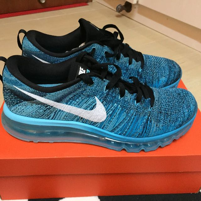 promo code 10945 b5afd Nike Flyknit Max 2015 Tied Pool Blue   Blue Lagoon Size 10.5 US ...