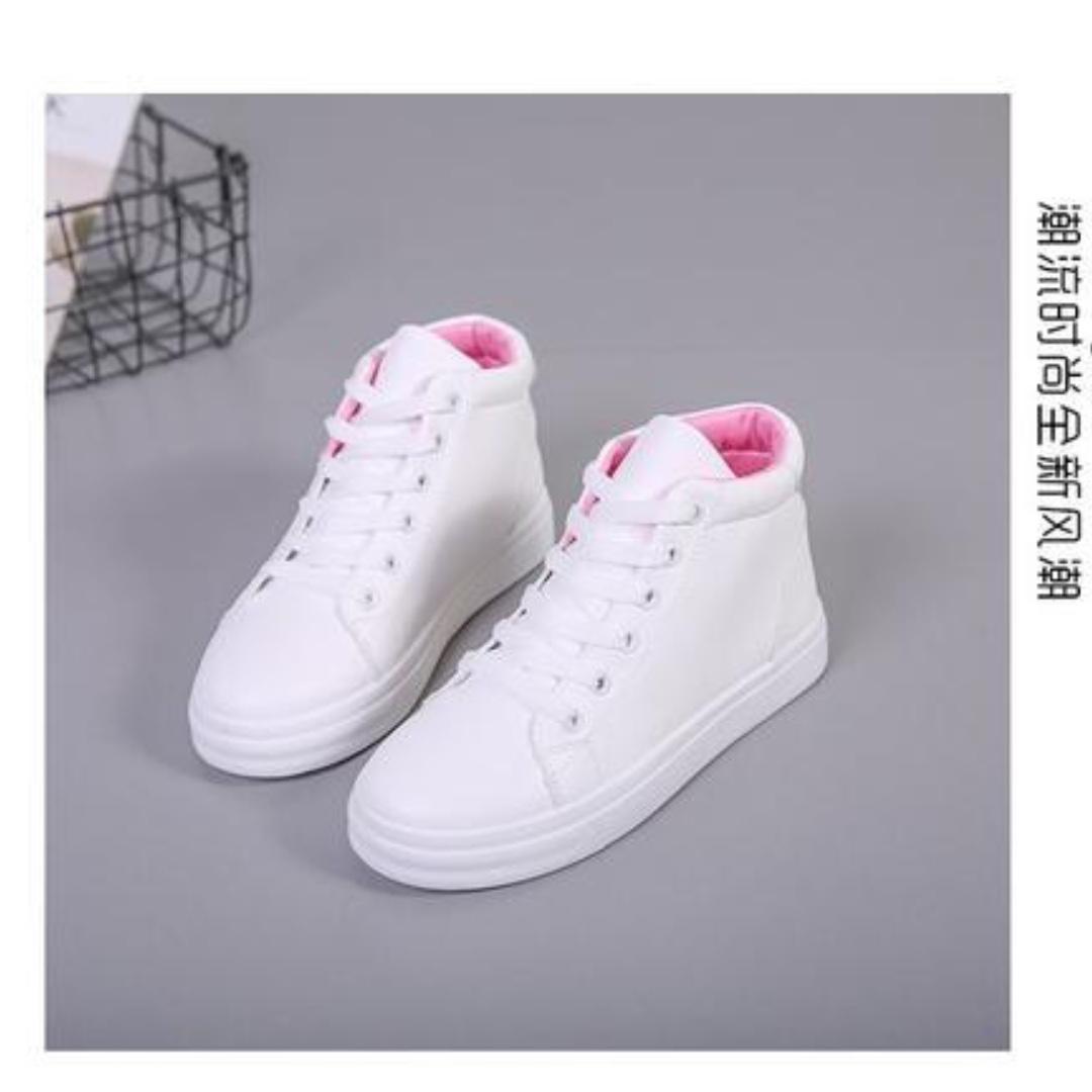 f1dfcfa5389 pink white cute sneakers 💫 BRAND NEW 💫, Women's Fashion, Shoes ...