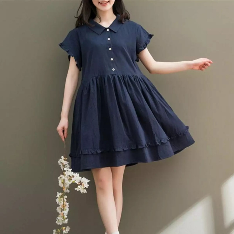 65334305690 PO  Korean Linen Babydoll Dress (86)