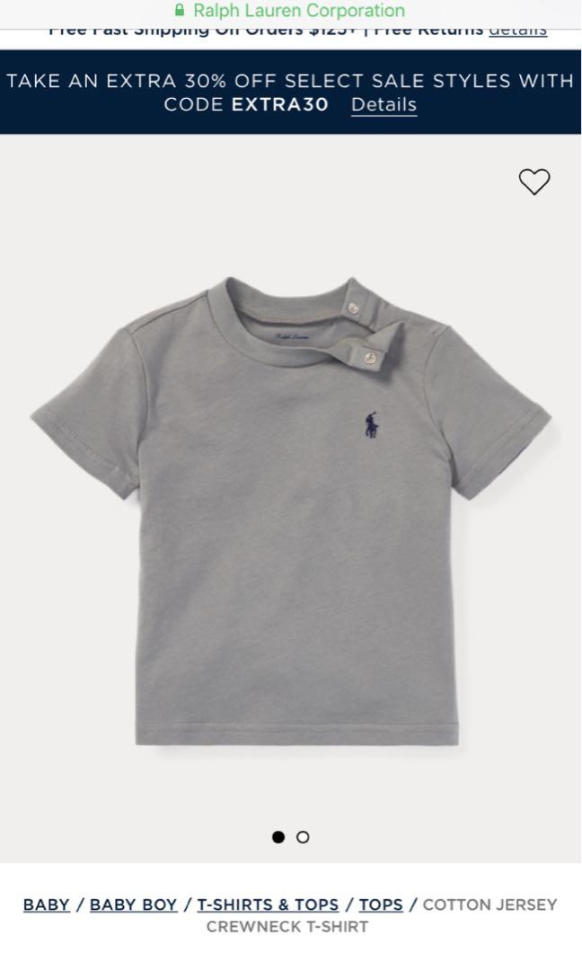 d13e87fc249eb Polo Ralph Lauren Cotton Jersey Crewneck T-shirt Polo童裝