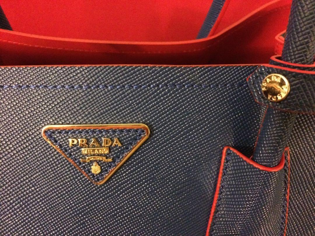 Prada Bag (blue and red)