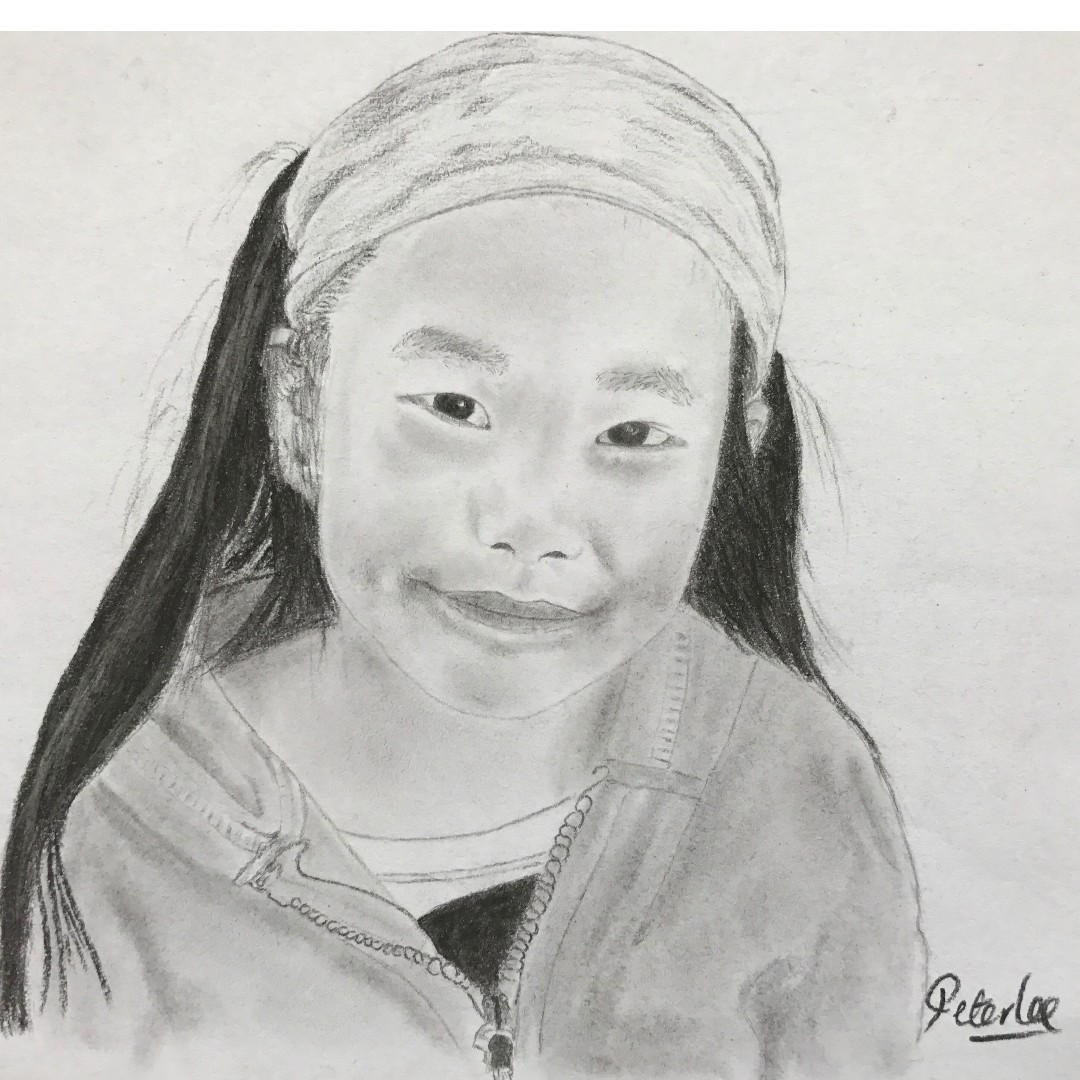 Realistic portrait drawing from your photo using charcoal pencils vine charcoal compressed charcoal