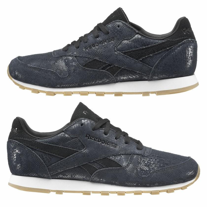 ee40a7fef44de Reebok BS8229 Leather blue exotic women classic sneaker