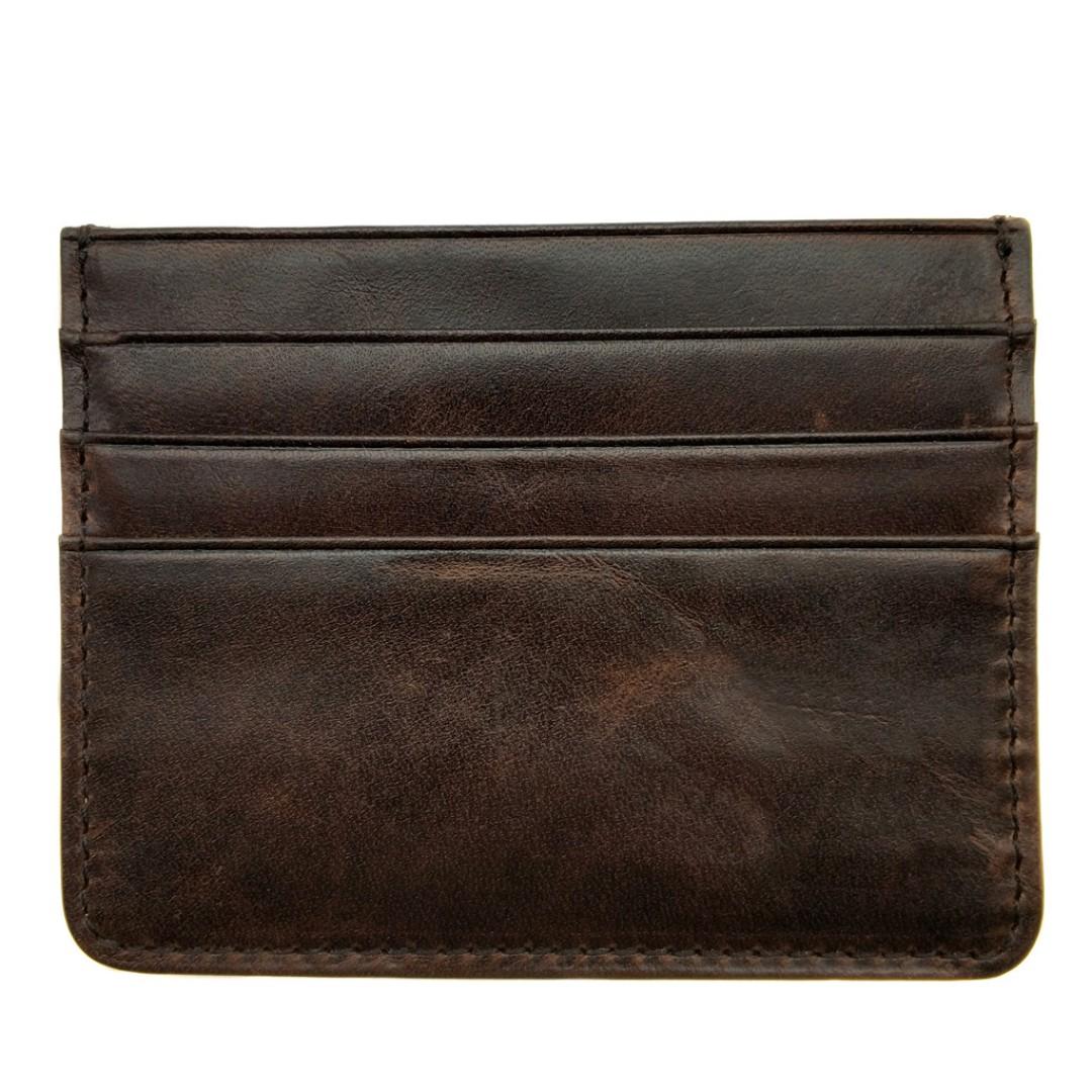 The Ninja Co  Top Grain Leather Card Sleeve Corporate Business Gifts Wallet  Holder Birthday Case Men Women NJ 8803