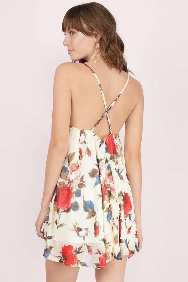 Tobi floral mini dress