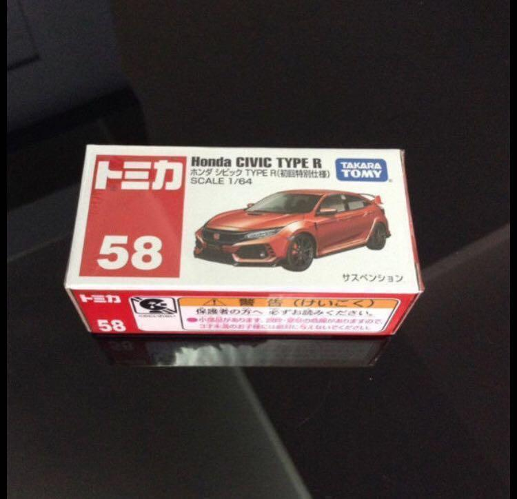 Tomica Honda Civic Type R (Red) #58, Toys & Games, Others on