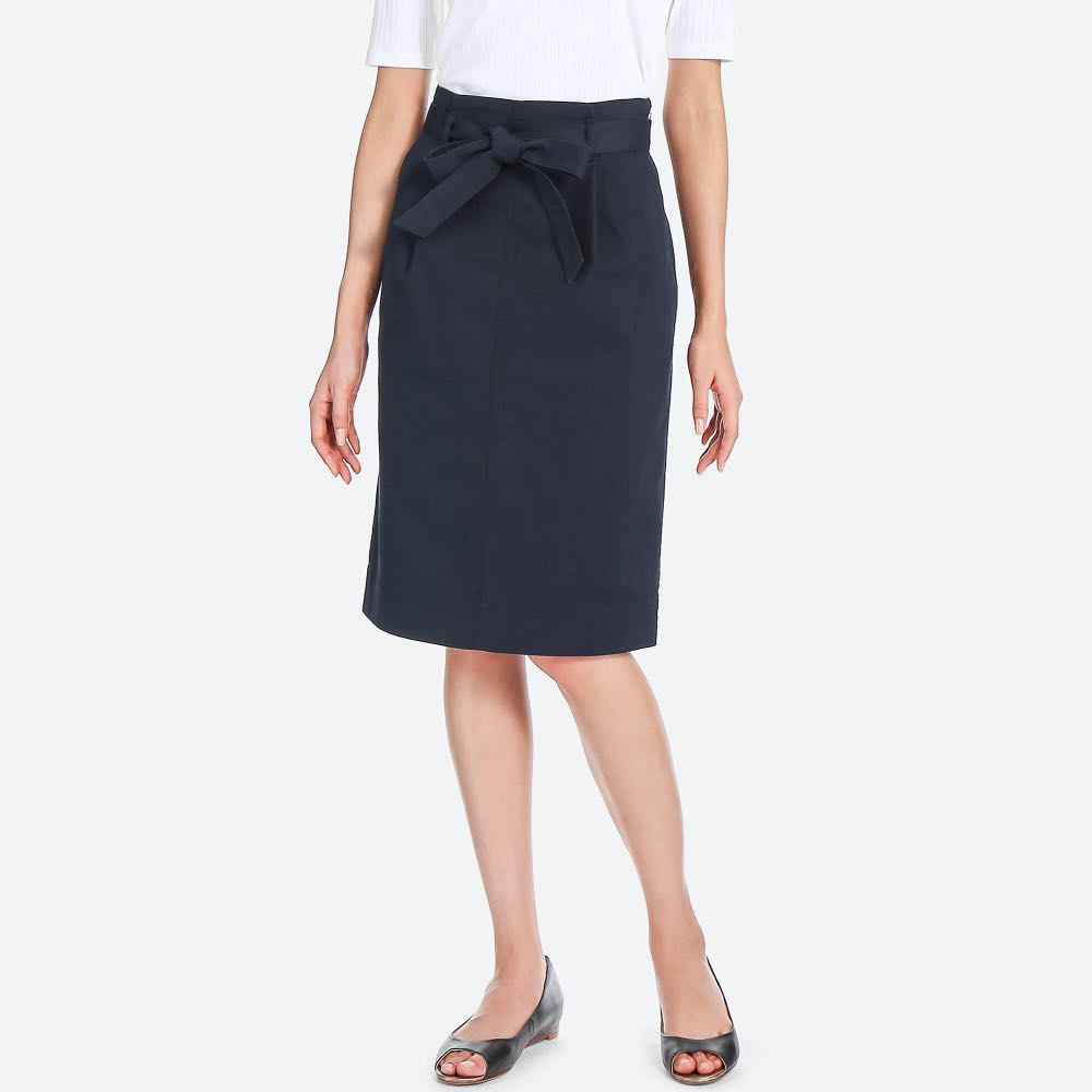 af91ffbf6c Uniqlo belted skirt - Navy, Women's Fashion, Clothes, Dresses ...