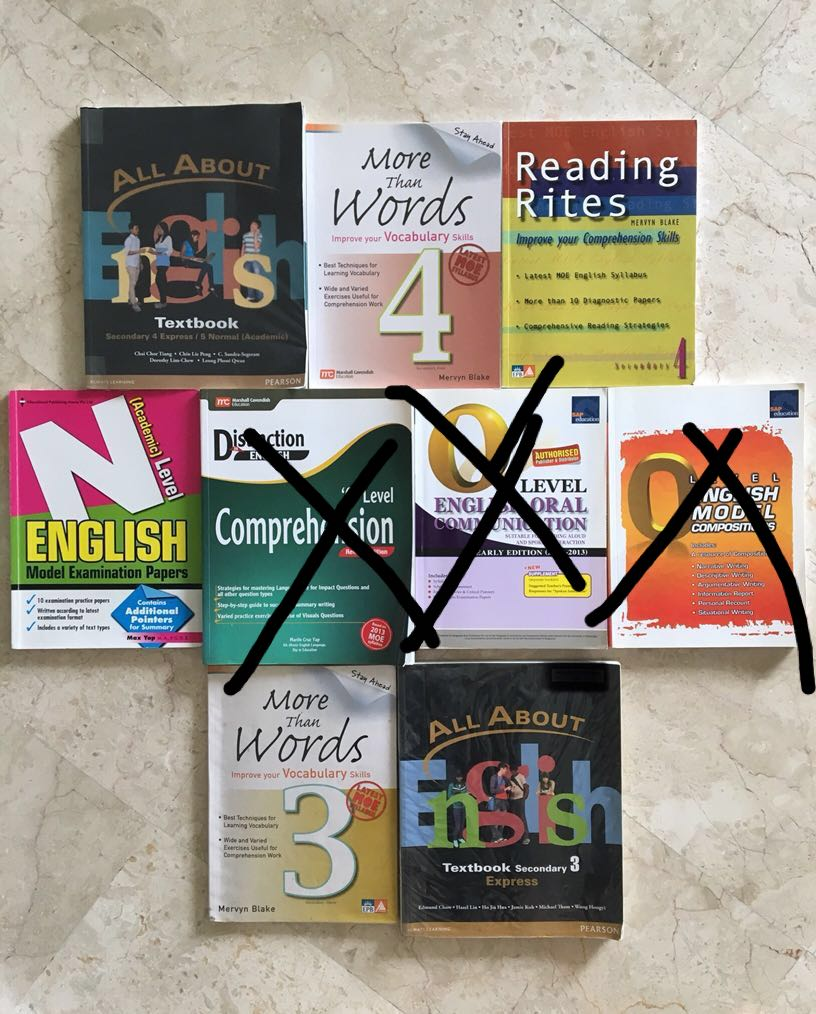 Upper secondary English textbooks and assessment books