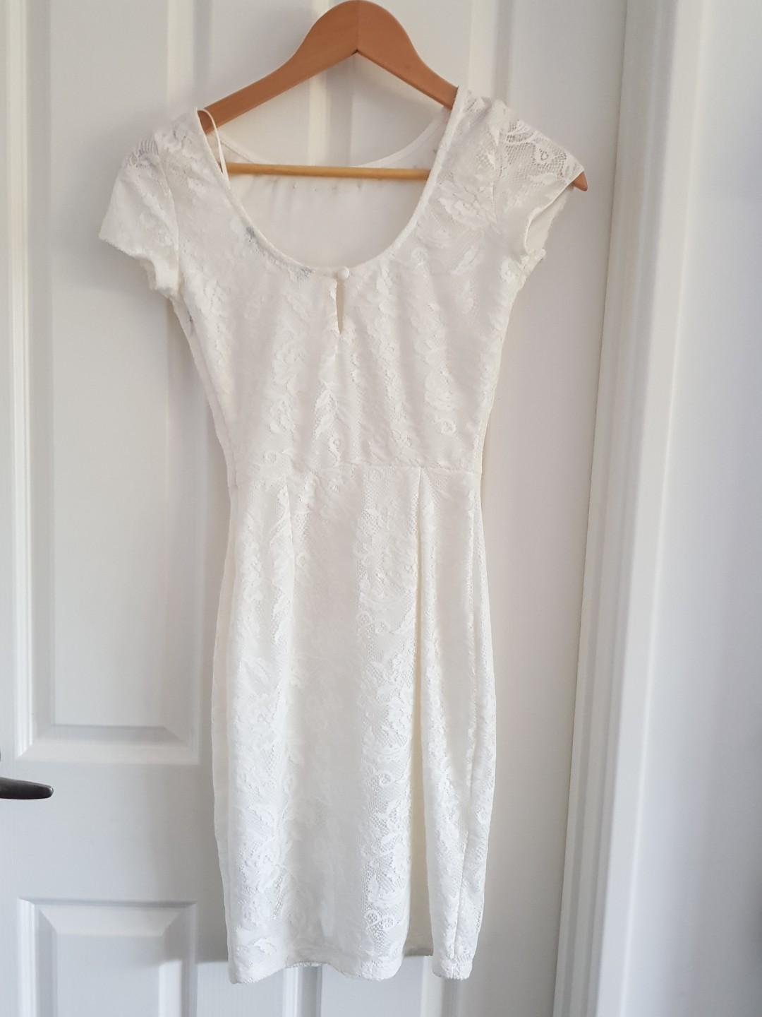Zara white lace dress