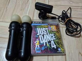 PS3 Accessories w/ Just Dance 4