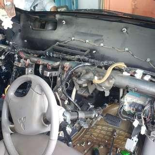 Perbaikan ac mobil Mitsubishi out lander bersama KING ac mobil panggilan