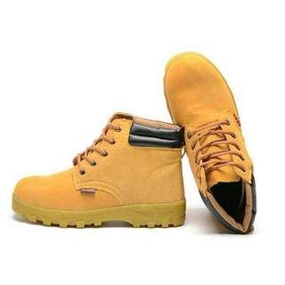 BN Golden Khaki Steel Toe Safety Boots