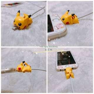 🚚 Instock Pokemon Pikachu Cable Bite Protector IPhone