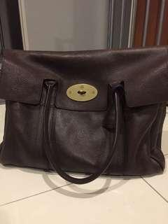 Authentic Mulberry Bayswater Bag in Chocolate