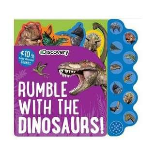 SALE! BRAND NEW Discovery Kids Dinosaurs Rumble Sound Book (Discovery 10 Button) Board book