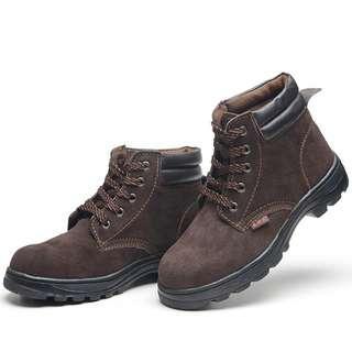 BN Dark Brown Steel Toe Safety Boots