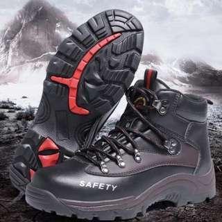 BN Black Steel Toe Zipper Safety Boots
