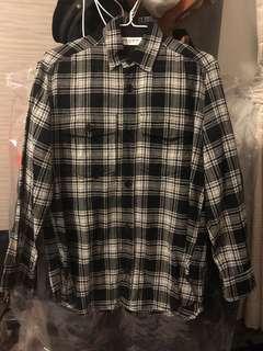 Saint Laurent shirt in black and white (格仔)